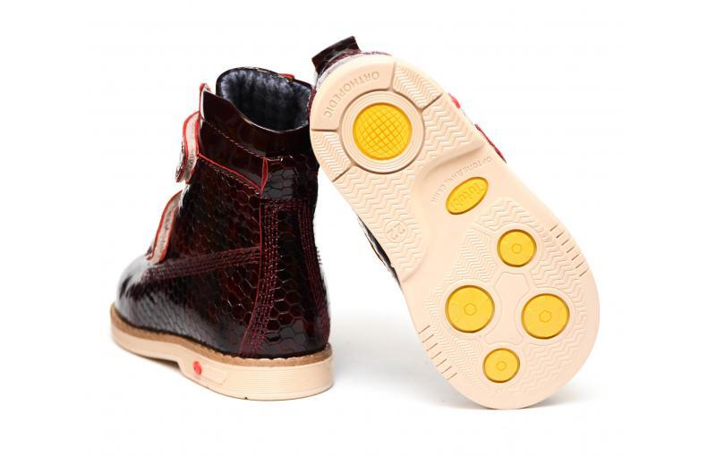 Ботинки для девочки Tuttubi 1028 (bordo kroko)