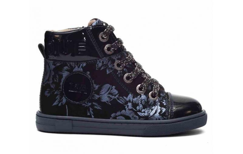 Демисезонные ботинки для девочек с темно-синим принтом(Нет в наличии) Tutubi 3014-03